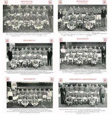 "14 BRITISH ARMY RUGBY TEAMS 1948 - 1963 PHOTOGRAPH BUNDLE 6"" X 4"" (15 x 10cm)"