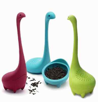 Loch Ness Monster Silicon Tea  Infuser Tea Leaf Bag Strainer Herbal Spice Filte