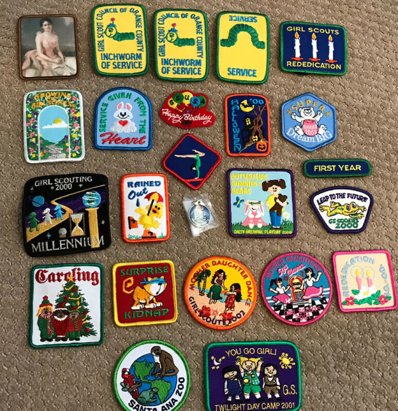 Lot of 23 GIRL SCOUT Patches