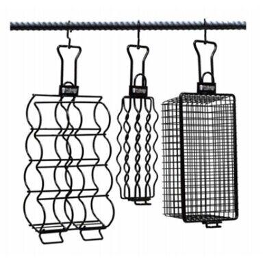 Pit Barrel Cooker AC1014VAL Hanger Grill Basket Set, Black