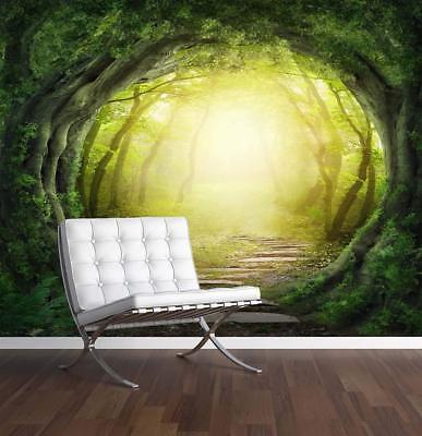Enchanted Forest Wall Mural Photo Wallpaper Magic Fantasy World Trees ()