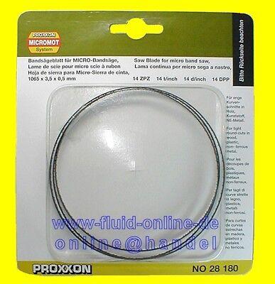 PROXXON 28180 Bandsägeblatt extra schmal 14 Zähne Bandsäge MBS240/E 27172 NEU