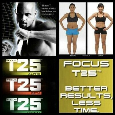 USB Workout T25 Gym Home Fitness Shaun Beach T Body 25 HIIT Insanity DVD