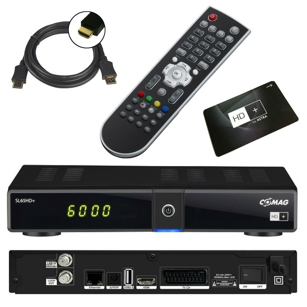 HD PLUS Sat Receiver inkl. HD+ Karte ✔ USB ✔ LAN ✔ HDMI ✔ Scart ✔ Comag SL 65 HD