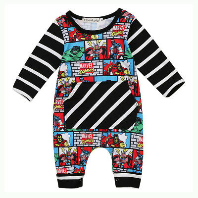 Newborn Infant Baby Kid Boy Outfit Clothes Superhero Romper Jumpsuit Bodysuit US - Baby Superhero Outfits