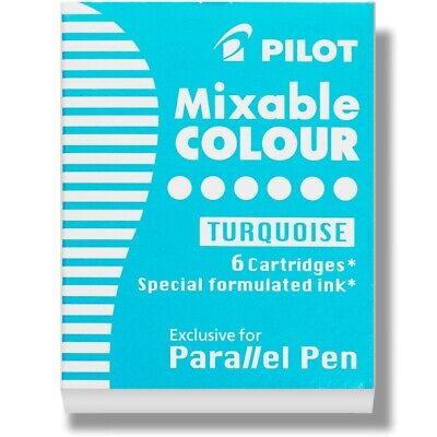 Pilot Parallel Pen Calligraphy Pen Ink Refill Cartridge Turquoise 3 Packs Of 6