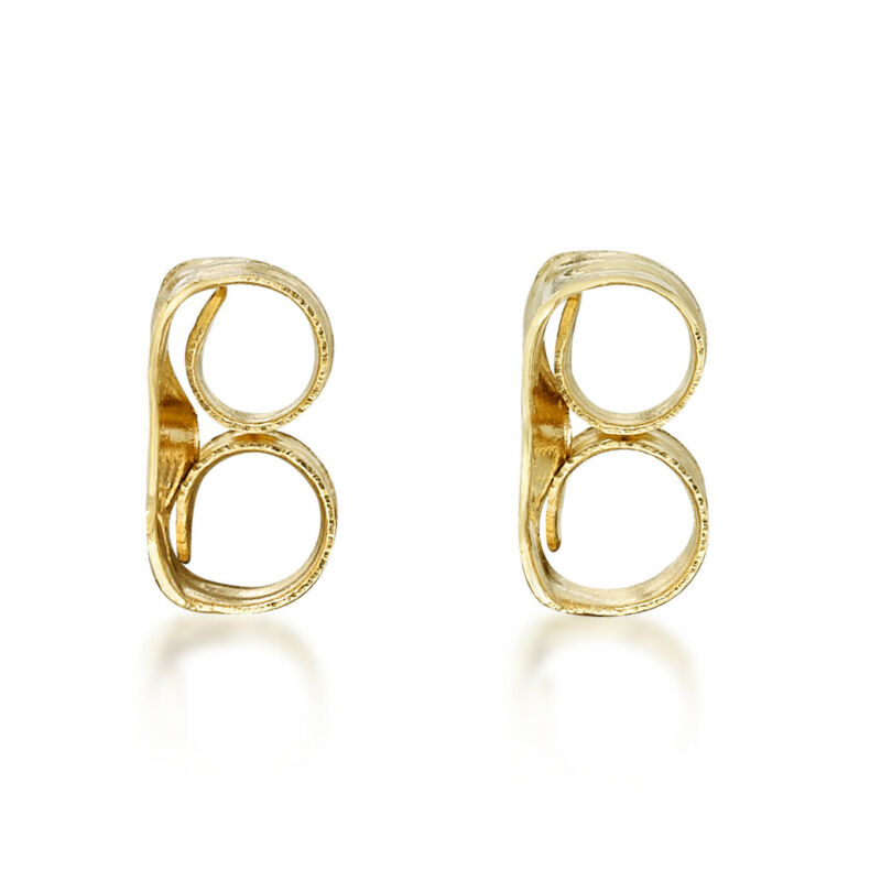 10K Yellow Gold Replacement Friction Earring Backs - 2 Pair Bundle (4 total)