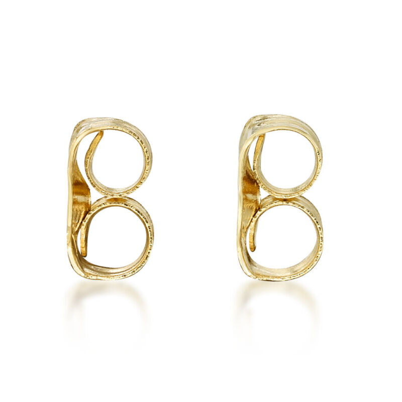 14K Yellow Gold Replacement Friction Earring Backs - 2 Pair Bundle (4 total)