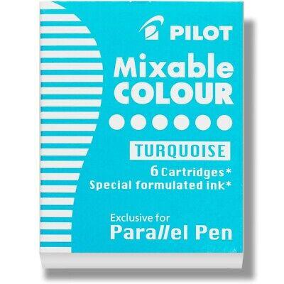 Pilot Parallel Pen Calligraphy Pen Ink Refill Cartridge Turquoise 2 Packs Of 6