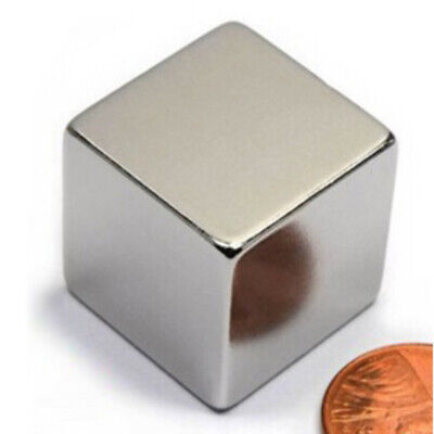 1 Inch Solid Cube Magnet Large Neodymium Rare Earth Big Super Strong Fastener