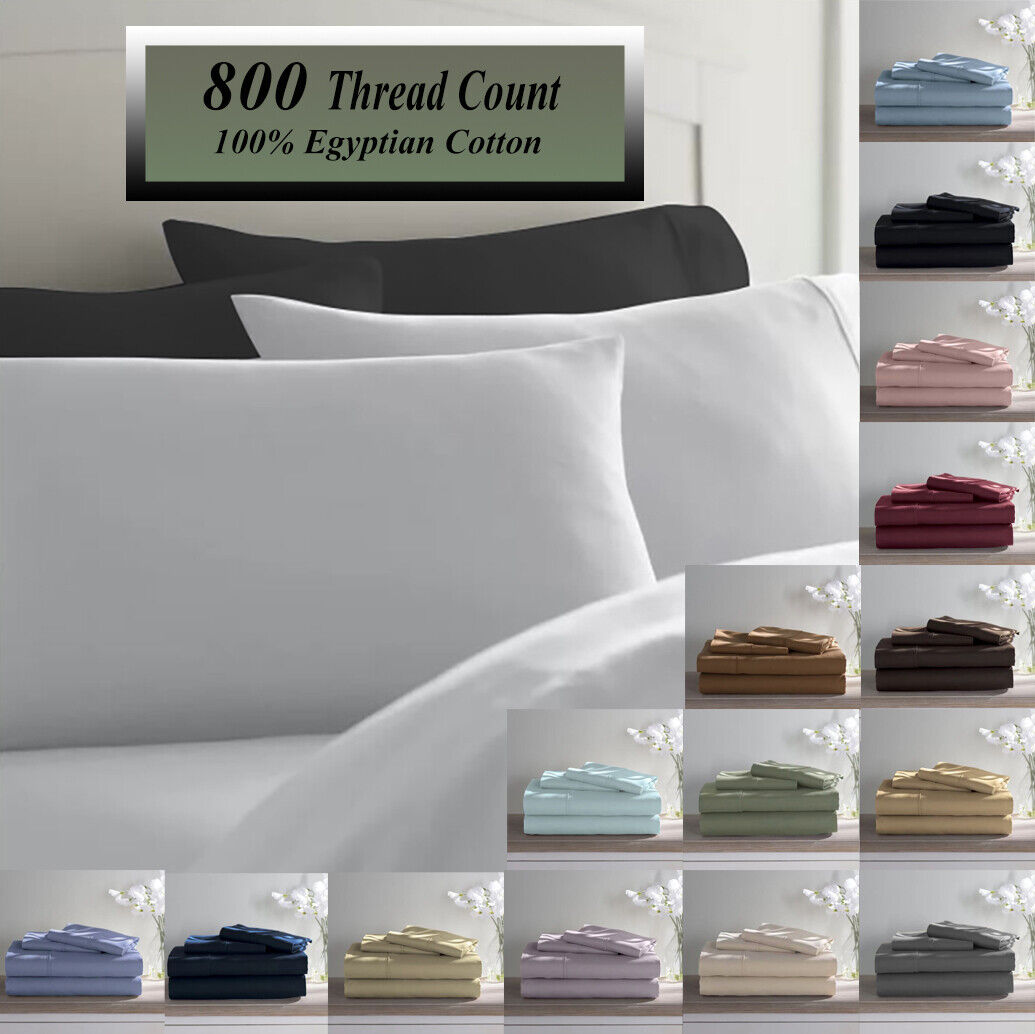 100 Cotton 1000 Thread Count Bed Sheet Set Solid Deep Pocket Wrinkle Set For Sale Online Ebay