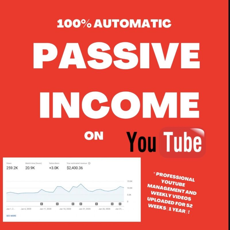 I WILL BUILD AND RUN YOUR YOUTUBE BUSINESS - £12000 PER YEAR P/E