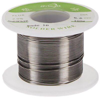 Jf Rosin Core Solder 6337 Leaded Electronics Solder Wire 0.6mm 100g Flux 2.0