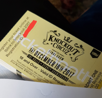 Knockout Circuz First Release tickets!