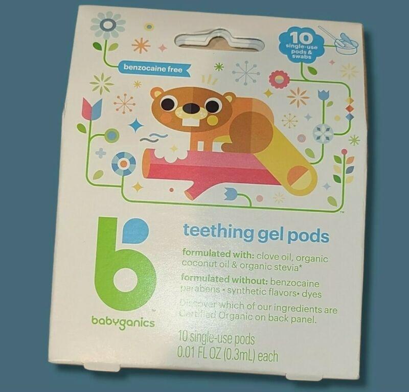 Babyganics Teething Gel Pods 10 Count Single Use Pods