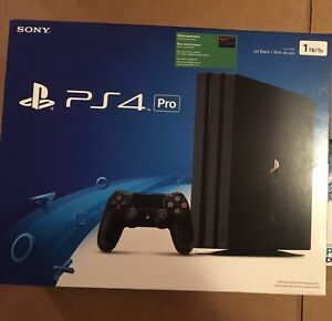 new ps4 pro console 1tb 4k hdr sony playstation 4 pro new. Black Bedroom Furniture Sets. Home Design Ideas