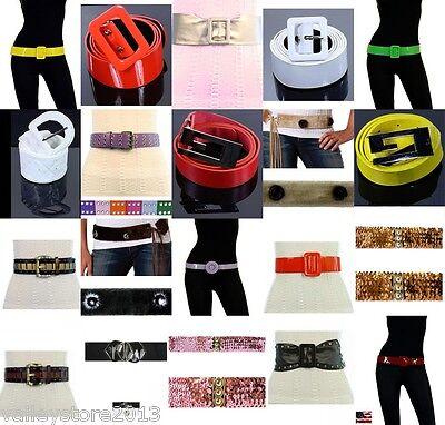 Großhandel Gürtel (Neu Großhandel Viel 50 Pcs Damen Mode Gürtel Leder Pelz Venyl Gemischt Bunt)