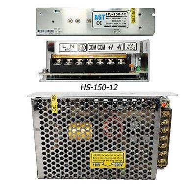 DC 12 Volt Regulated 12.5A Power Supply 150W Driver LED Strip Lights CCTV Camera