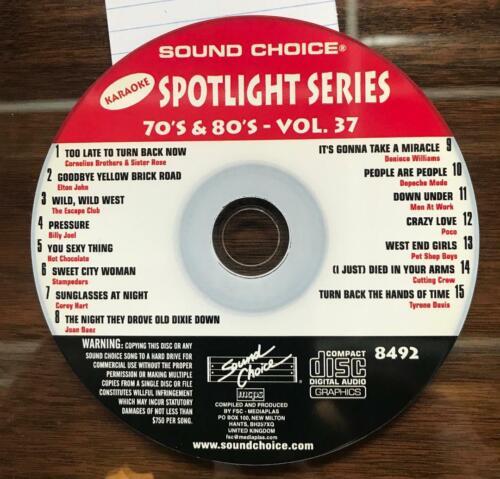 SOUND CHOICE KARAOKE SPOTLIGHT SERIES CD+G - 8492 - 70