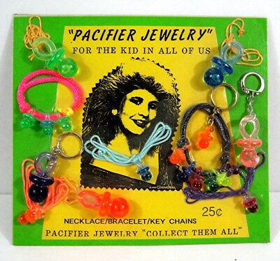 Pacifier Jewelry Necklace Bracelet Gumball Vending Machine Disp Card Toys #63