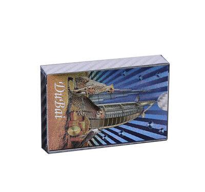 Christmas Souvenir Gifts Dubai Leopard Colorful Silver Playing Card Art (Gift Cards Dubai)