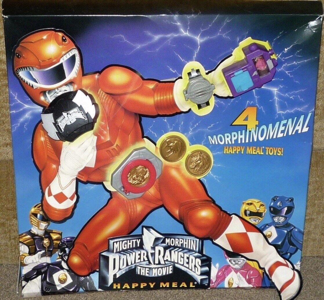 Vintage 1995 Mcdonalds Power Rangers The Movie Kids Toys Plus U-3 Toy NIP