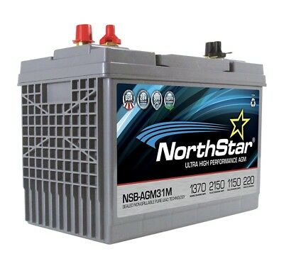 NORTHSTAR / NSB-AGM31M  MARINE DEEP CYCLE AND STARTING BATTERY. PURE LEAD.