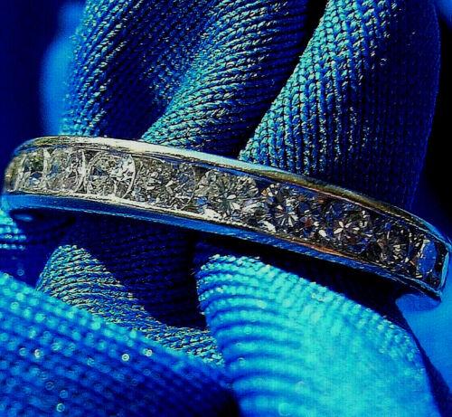 Real Diamond Wedding Band Designer 18k Deco Eternity Anniversary Ring Size 6