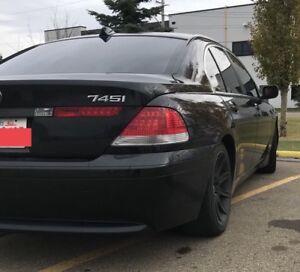 Black on Black BMW 745i