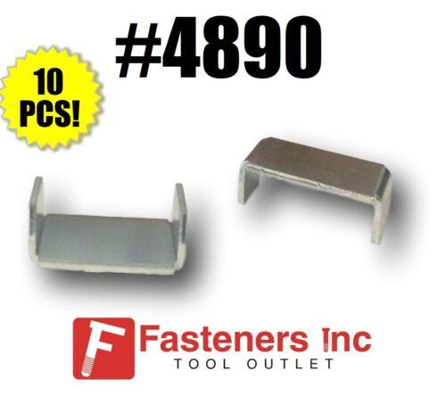 """(QTY 10) 13/16"""" Raceway Metal End Caps for Unistrut / B-Line Channel #4890 P6280"""