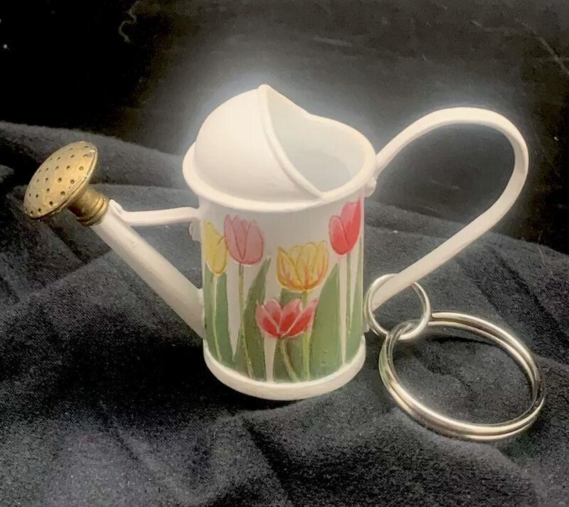 Hallmark Marjolein Bastin Natures Sketchbook Watering Can Tulips Keychain Orname