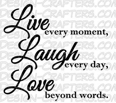 Live Laugh Love Style 2 Home Office Vinyl Wall Door Art Decal Removable Sticker (Live Laugh Love Wall Decals)