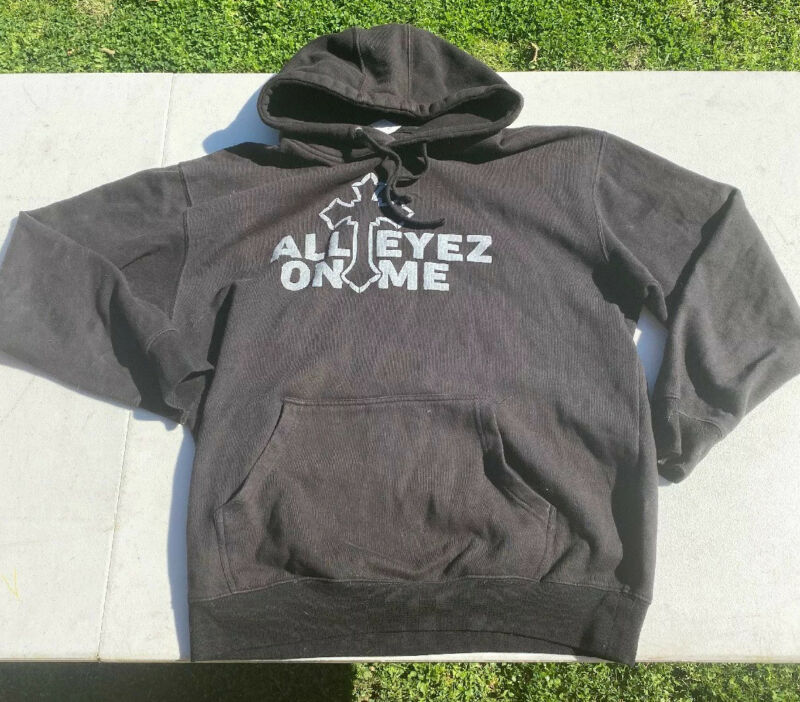 2 Pac All Eyes On Me Hoodie XL 2pac Biggie Rap Hip Hop Tee Sweater Gangster