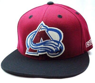 Colorado Avalanche CCM TZW92 FVF NHL Team Logo Stretch Fit Hockey Cap Hat