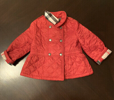 Burberry Authentic Baby Girls / 18M / Quilted Coat / Jacket / Red