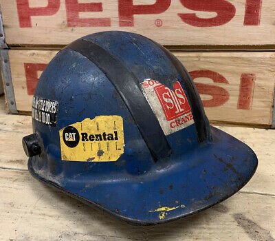 Vintage Hard Hat Construction Protective Safety Helmet Crane Georgia