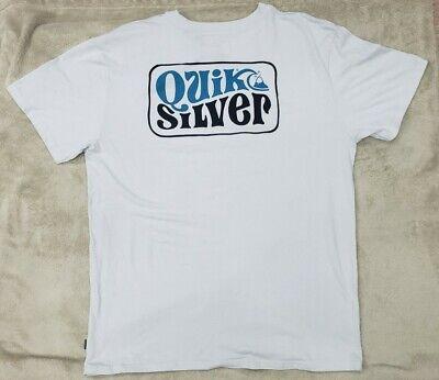Quiksilver Mens T-Shirt Premium Mint Size XL Xtra Large Graphic Tee