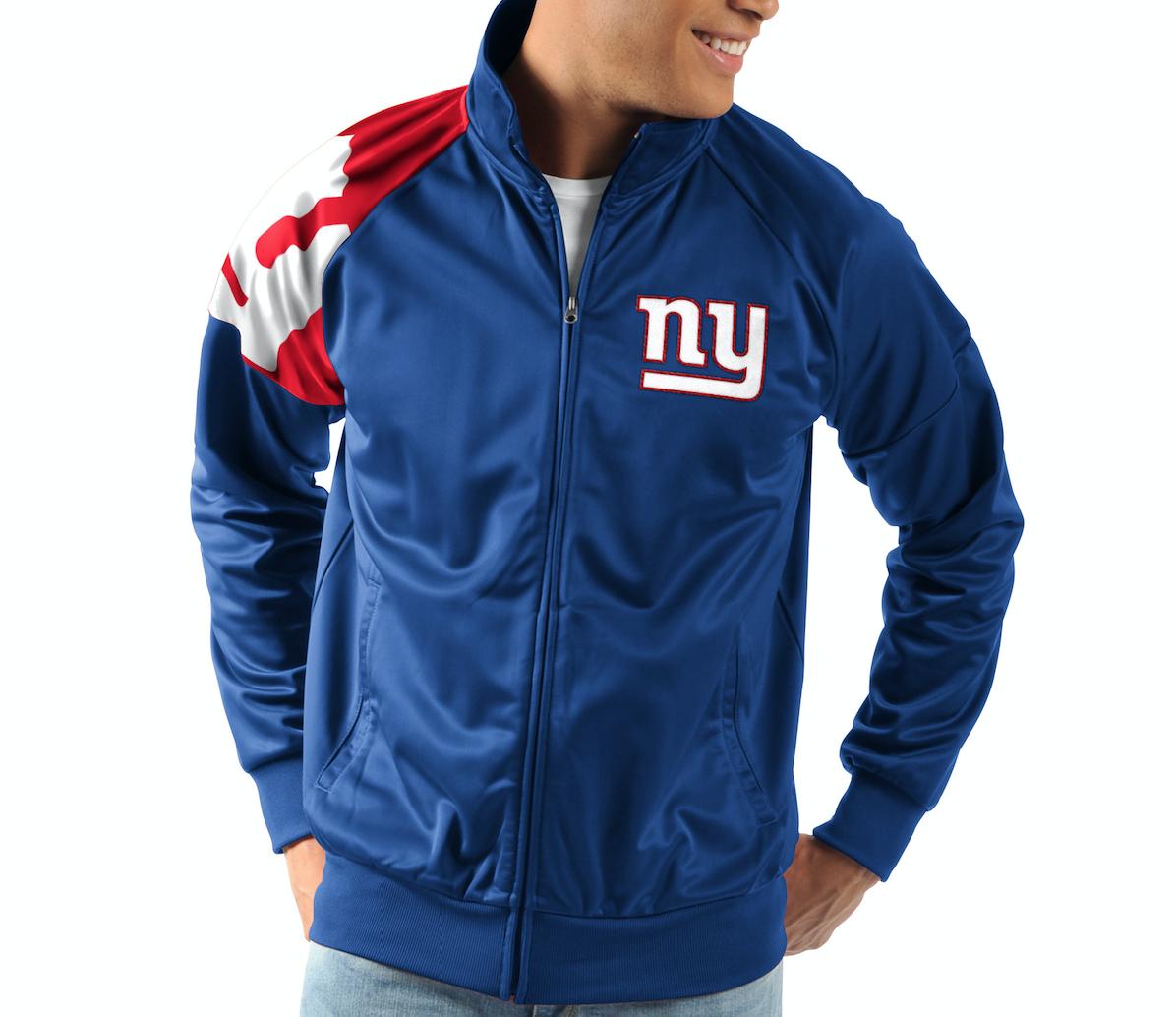 New York Giants G-III Sports INTERCEPTION Full-Zip NFL Track