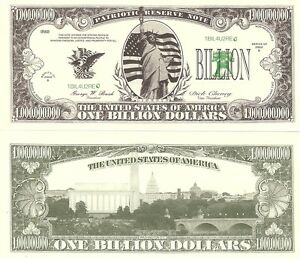 STATUE-OF-LIBERTY-ONE-BILLION-DOLLAR-BILL-PLAY-MONEY-GREAT-NOVELTY-FOR-JOKES