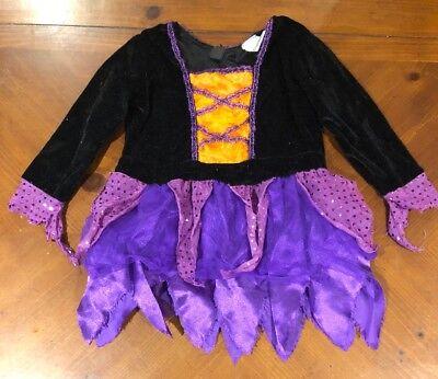 Toddler Witch Tutu Costume (Just Pretend Girls Witch Tutu Dress Toddler Size Large Halloween)