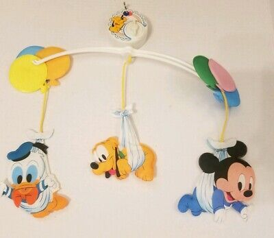 Vintage 1984 Dolly Disney Babies Mickey & Friends Musical Mobile incomplete used