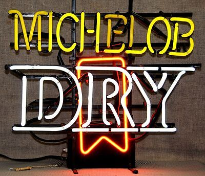 Vintage Michelob Dry indoor neon sign advertising sign fully functional NO SHIP!