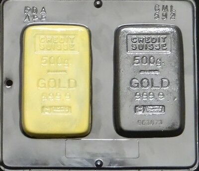 Gold Bar Chocolate Candy Mold  592 NEW