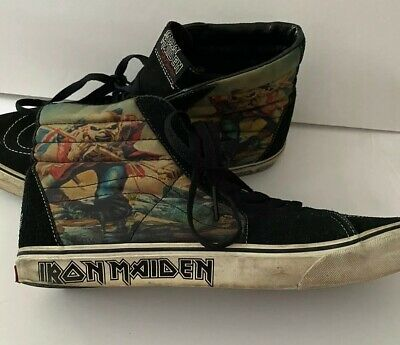 High Top VANS Iron Maiden The Trooper Hi Top Men's 13 Skateboard sk8 Shoes rare