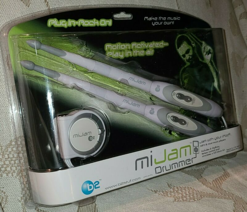 be MiJam Drummer Motion Activated Drum Sticks Jam With Your iPod or MP3 Player