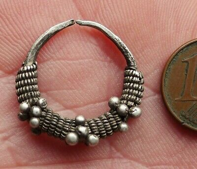 Buckle Ear Silver Watermarked Jewellery Antique Mauritania Africa Earring