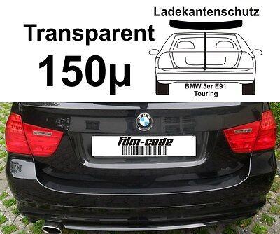 Lackschutzfolie Ladekantenschutz für BMW 3 er Kombi e91 transparent