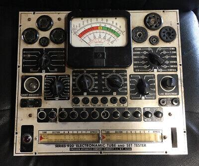 Precision Apparatus Co. Series 920 Electronamic Tube And Set Tester -vintage