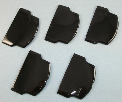 Psp-2001 Psp-2000 Piano Black Battery Cover Door - Original Battery Lot Of 5