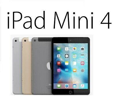 Apple iPad Mini 4 16/32/64/128GB Wi Fi & Cellular (Unlocked) 7.9 Inch Display